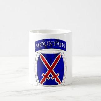 10mo División de la montaña Taza Básica Blanca
