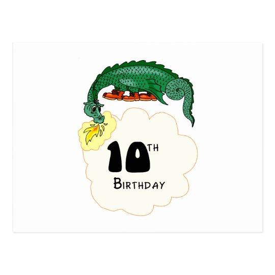 10mo Dragón del cumpleaños Tarjeta Postal