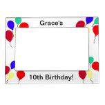 10mo El cumpleaños hincha el marco magnético Marcos Magneticos Para Fotos