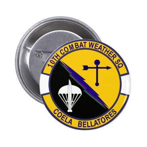 10mo Escuadrilla del tiempo del combate Pin Redondo De 2 Pulgadas