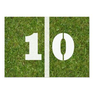 """10mo ¡Fiesta de cumpleaños! Invitación 5"""" X 7"""""""