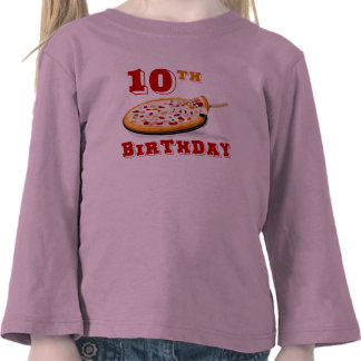 10mo Fiesta de la pizza del cumpleaños Camisetas