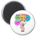 10mo Fiesta de la princesa cumpleaños del cumpleañ Iman Para Frigorífico