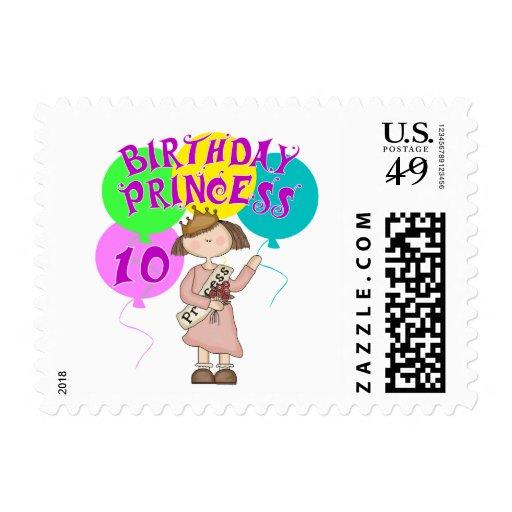 10mo Fiesta de la princesa cumpleaños del Franqueo