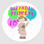 10mo Fiesta de la princesa cumpleaños del Etiqueta Redonda