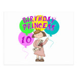 10mo Fiesta de la princesa cumpleaños del Postal