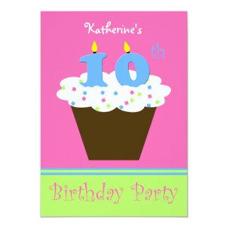 10mo Invitación de la fiesta de cumpleaños 10