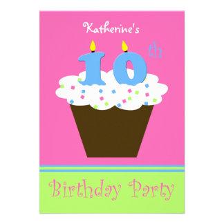 10mo Invitación de la fiesta de cumpleaños -- 10 v