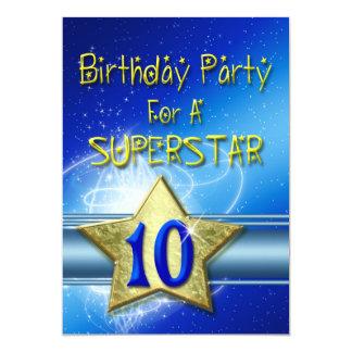 10mo Invitación de la fiesta de cumpleaños para un