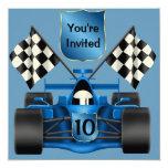 10mo Invitación del coche de carreras del
