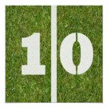 10mo Invitación del cumpleaños Invitación 13,3 Cm X 13,3cm