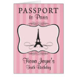 10mo Invitación del pasaporte de París del Tarjeta Pequeña