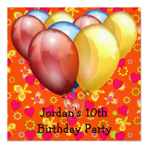 10mo La fiesta de cumpleaños hincha amarillo azul Invitaciones Personales