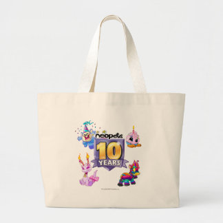 10mo Logotipo del cumpleaños Bolsa De Mano