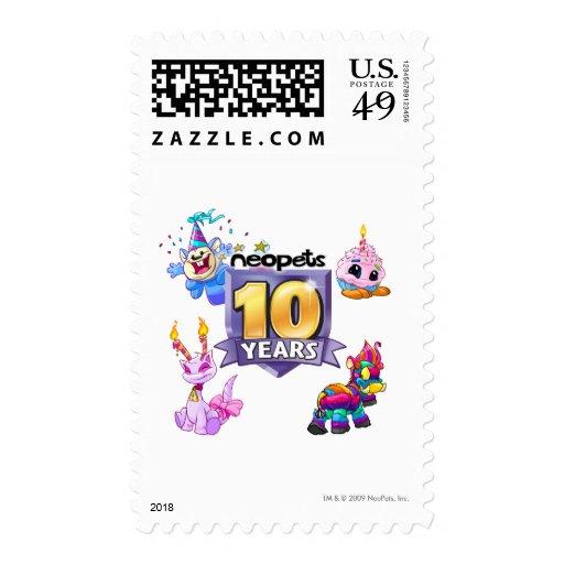 10mo Logotipo del cumpleaños Envio