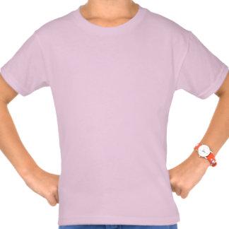 10mo Nombre de encargo V025A2 de la cebra rosada Remeras