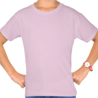 10mo Nombre de encargo V025A de la cebra rosada de Camiseta