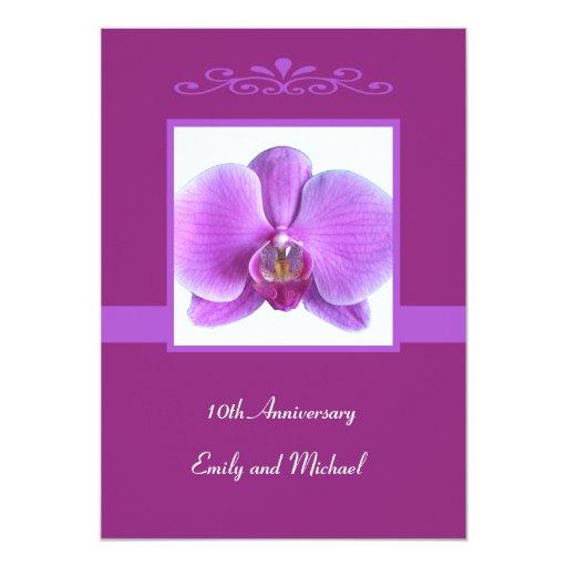 10mo Orquídea de la invitación del aniversario de