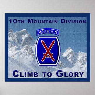 10mo Poster de la división de la montaña