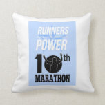 10mo Poster del maratón Cojines