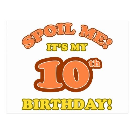 10mo presente de cumpleaños tonto tarjeta postal
