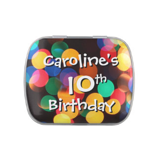 10mo Puntos borrosos del favor del cumpleaños de l Frascos De Dulces