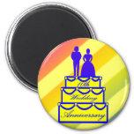 10mo Regalos del aniversario de boda Imanes