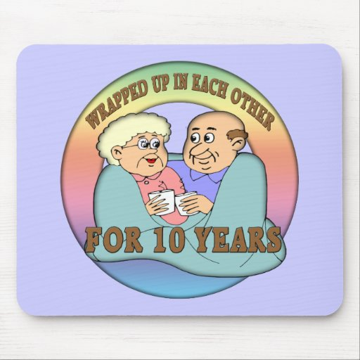 10mo Regalos del aniversario de boda Mouse Pad