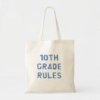10mo Reglas del grado Bolsa Tela Barata