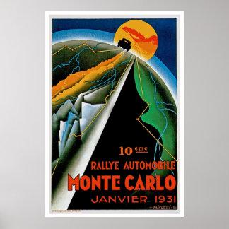10mo Reunión de Monte Carlo del automóvil Póster