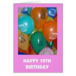 10mo Tarjeta de cumpleaños