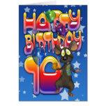 10mo Tarjeta de cumpleaños, feliz cumpleaños