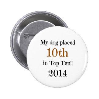 10mo Top Ten del lugar Pin Redondo 5 Cm