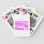 10mos cumpleaños de los chicas: 10 años más barajas de cartas