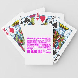 10mos cumpleaños de los chicas 10 años más grande baraja de cartas