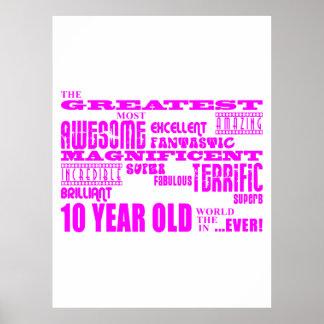 10mos cumpleaños de los chicas: 10 años más grande póster