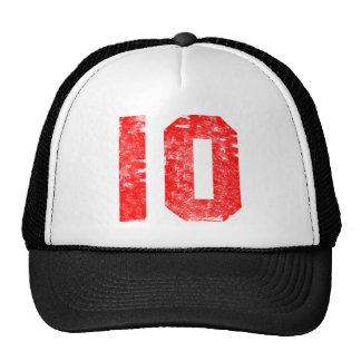 10mos regalos de cumpleaños del número diez gorros bordados