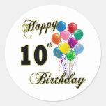 10mos regalos de cumpleaños y ropa felices del cum pegatina