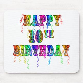 10mos regalos de cumpleaños y ropa felices del cum tapete de raton