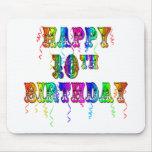 10mos regalos de cumpleaños y ropa felices del cum alfombrillas de raton