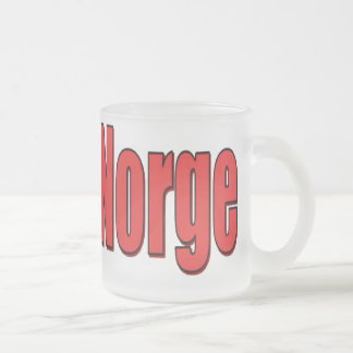 10oz Frosted Glass Mug Norge Block