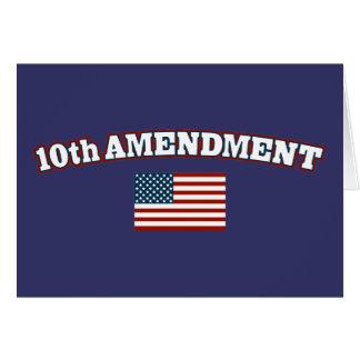 10th Amendment American Flag Card