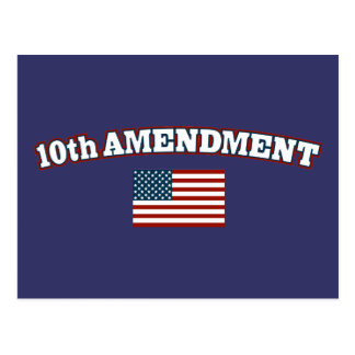 10th Amendment American Flag Postcard