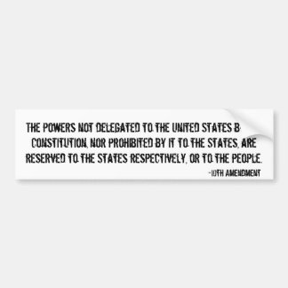 10th Amendment Bumper Sticker