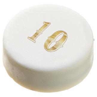 10th Anniversary 10 Birthday Gold White Cookie