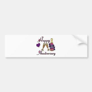 10th. Anniversary Bumper Sticker