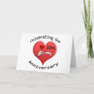 10th. Anniversary Card