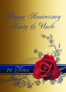 Th Anniversary Cardaunt Uncle Card