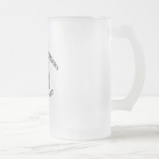 10th. ANNIVERSARY Frosted Glass Beer Mug