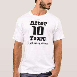 10th Anniversary (funny) T-shirt at Zazzle